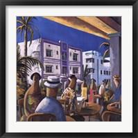 Breakfast in Miami Framed Print