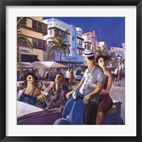 Vespa in Miami Framed Print