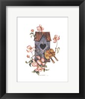 Framed Birdhouse with Yellow Throats