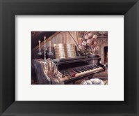 Sonata By Firelight (Mini) Framed Print