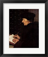 Framed Portrait of Erasmus