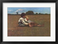 Framed Boys in a Pasture