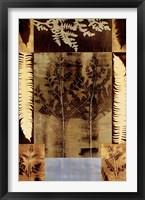 Framed Sepia Fern II