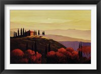 Framed Tuscan Sunrise