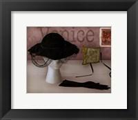Venice Hat Framed Print