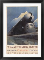 Framed 20Th Century Limited
