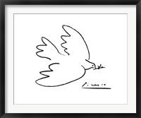 Framed Dove of Peace