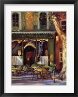 Paulette's Cafe Framed Print