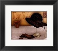 New York Hat Framed Print