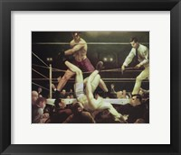 Framed Dempsey And Firpo