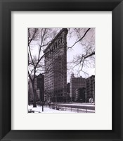 Framed Flat Iron Building