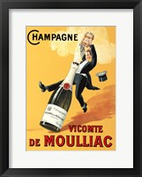 Framed Champagne Vicomte De Moulliac