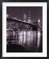 Night View Brook Brdgman Skyline Framed Print