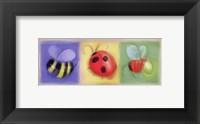 3 Bug Panel Framed Print