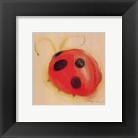 Ladybug On Taupe Framed Print