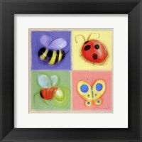 4 Bug Panel Framed Print