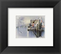 Framed Fishing Docks - seagull