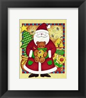 Framed Santa and Bear