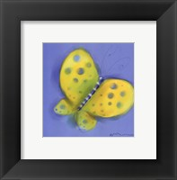 Butterfly On Light Blue Framed Print