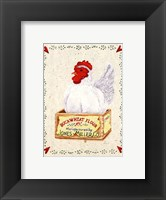 Framed Jones Miller Rooster