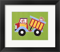 Bears in Dump Truck Framed Print