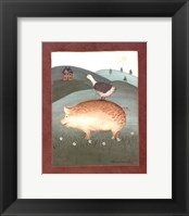 Pig with Goose Framed Print