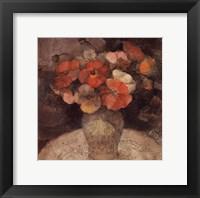 Framed Vase of Poppies