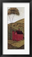 Framed Country Panel II - Barn