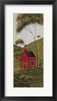 Framed Country Panel IV-School House