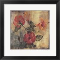 Framed Flamboyant Hibiscus II
