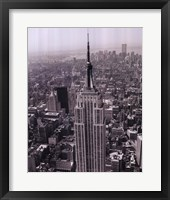 Empire State Building / World Trade Center Framed Print
