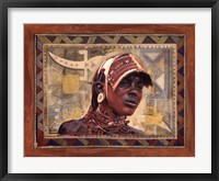 Framed African Warrior I