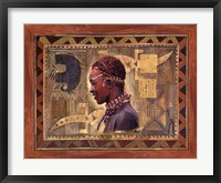Framed African Warrior II