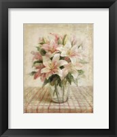 Framed Cottage Lilies in Pink