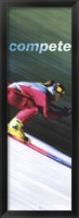 Compete-Downhill Framed Print