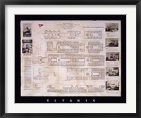 Framed Titanic Deck Plan