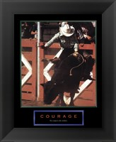 Framed Courage-Bull Rider