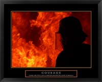 Framed Courage - Fireman