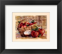 Fruit Stand Apples Framed Print