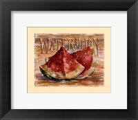 Fruit Stand Watermelon Framed Print