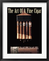 Framed Art of a Fine Cigar