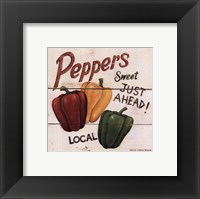 Sweet Peppers Framed Print