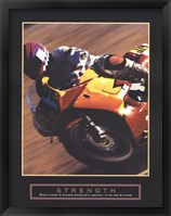 Strength - Motorbiker Framed Print