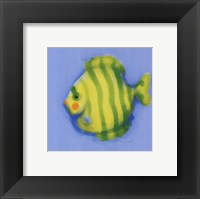 Framed Green Striped Fish