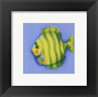 Framed Green Striped Fish