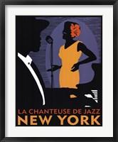 Framed La Chanteuse de Jazz