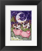Old Macdonald Pigs Framed Print