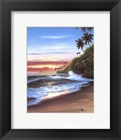 Framed Beach At Sunset