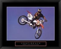 Confidence - Motorbiker Framed Print
