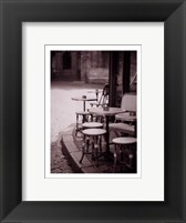 Framed Cafe De Paix